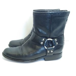 Frye Phillip harness short moto boot